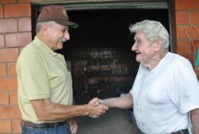 Um já conhecia a fama do outro, mas Luiz Banzi (esq.) e Antonio Carli Arvênio nunca tinham se encontrado - Tucano