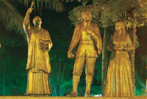 Monumento em alusão à fundação de Salto - Assessoria de Imprensa da Prefeitura de Salto