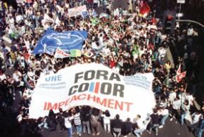 Depois de quase 30 anos sem votar para presidente, o Brasil elegeu Fernando Collor e exigiu sua saída antes de terminar o mandato  - psolriodasostras.wordpress.com